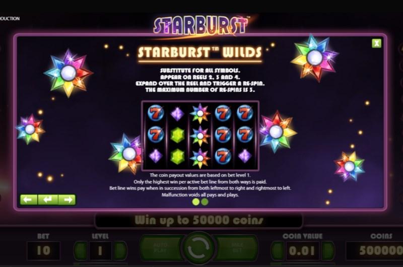 Starburst Featrues