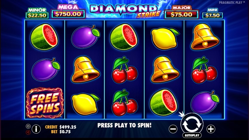 diamond strike video slot gameplay